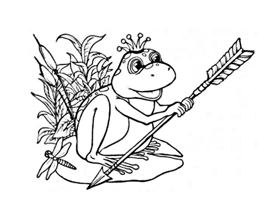 Сказка царевна лягушка раскраска для детей