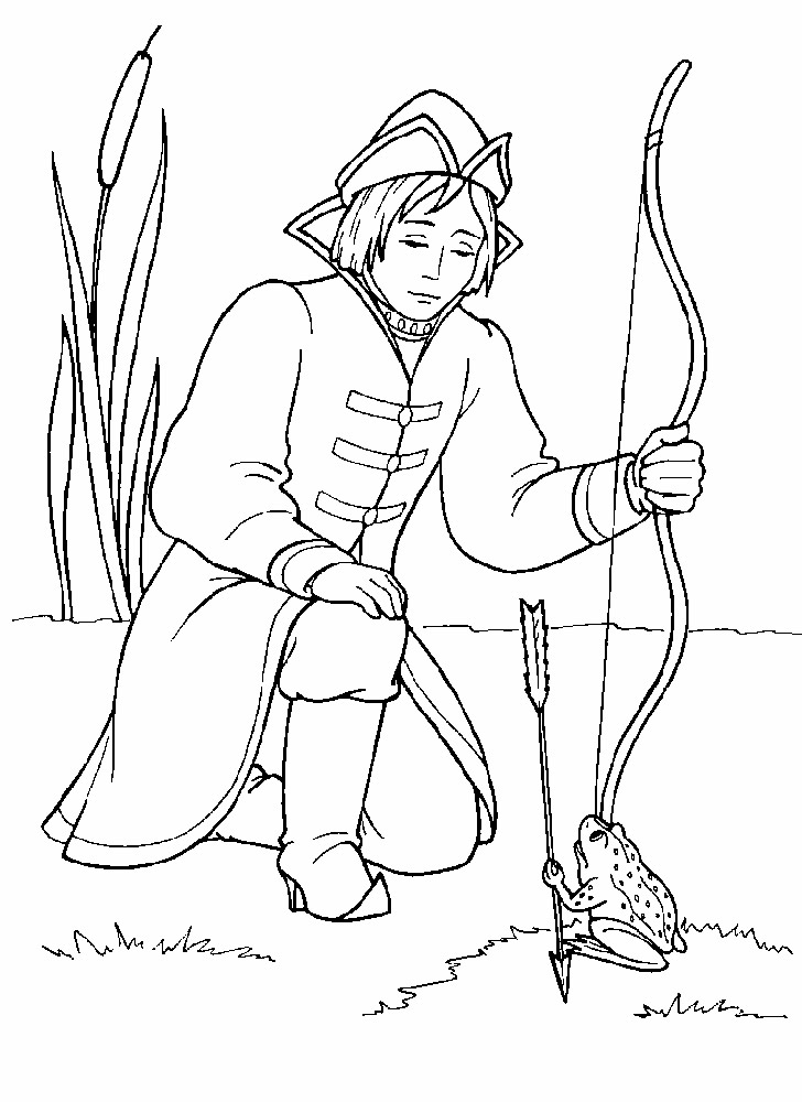 Иллюстрации к сказке царевна лягушка раскраски