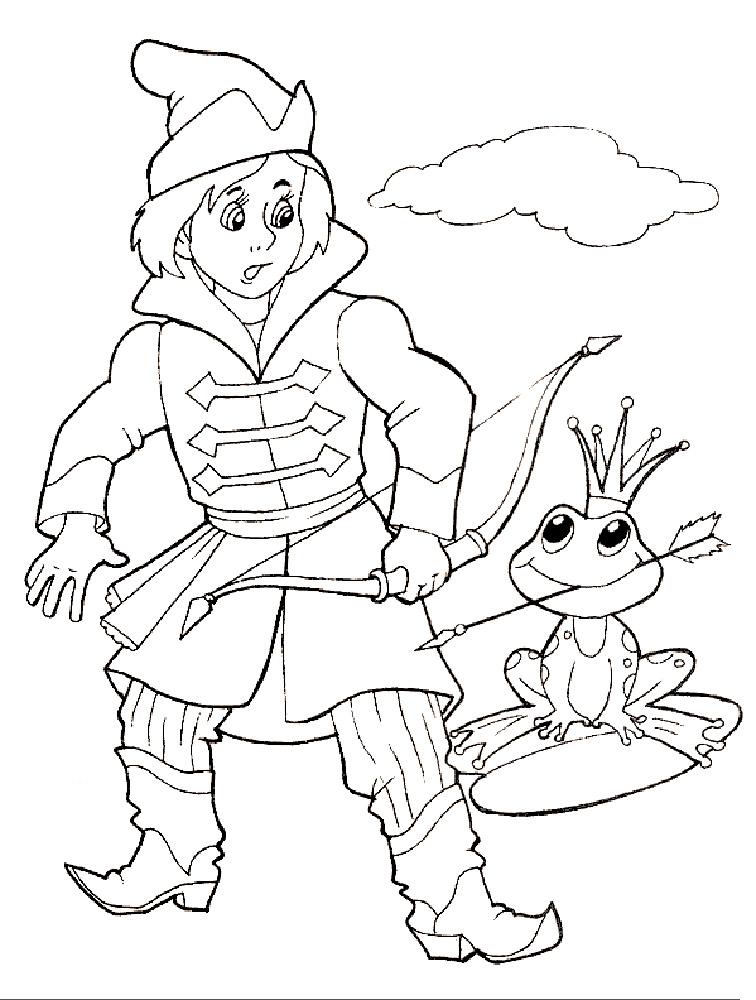 Сказка раскраска царевна лягушка