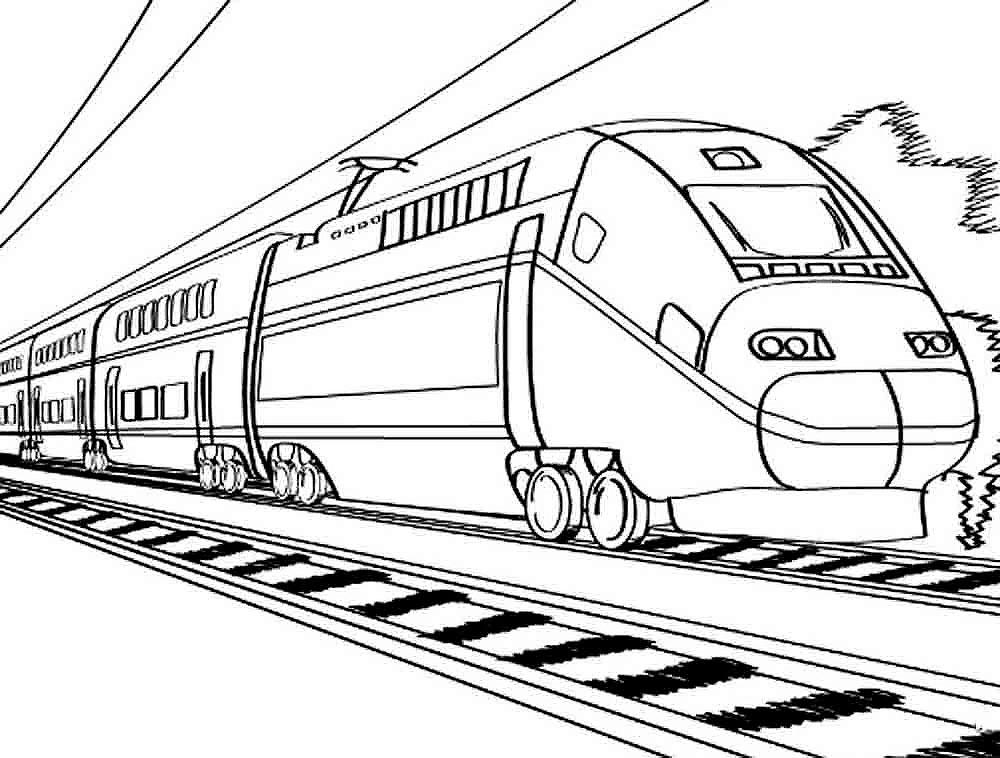Раскраска поезд скачать и распечатать