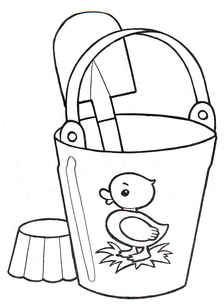 Раскраска игрушки для малышей - 4
