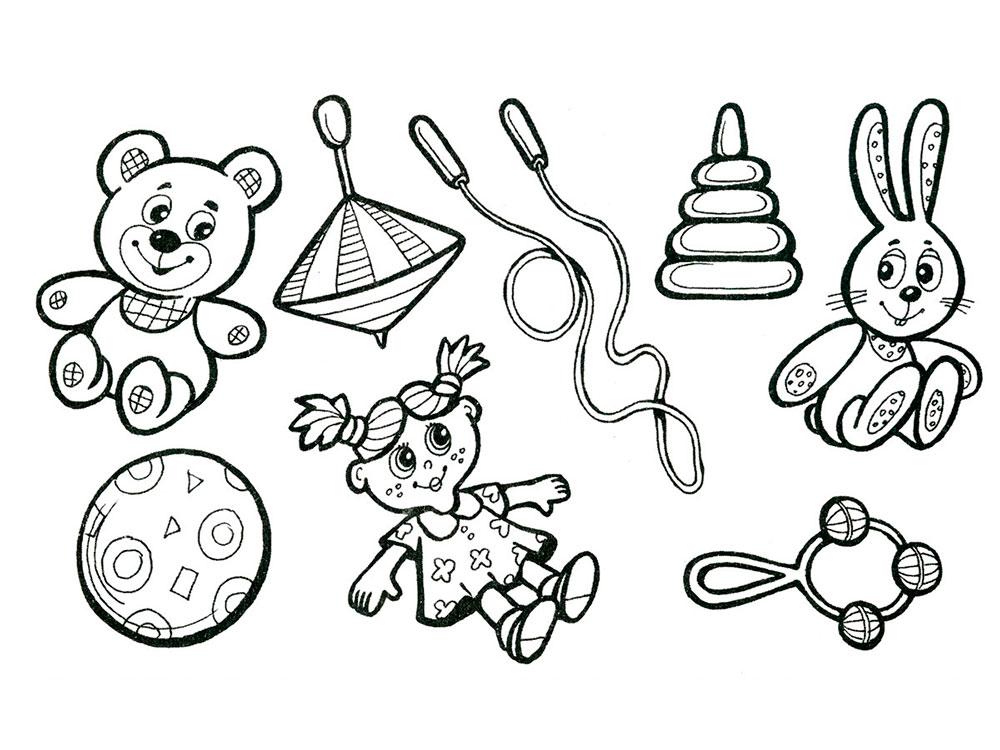 Раскраски игрушки скачать и распечатать