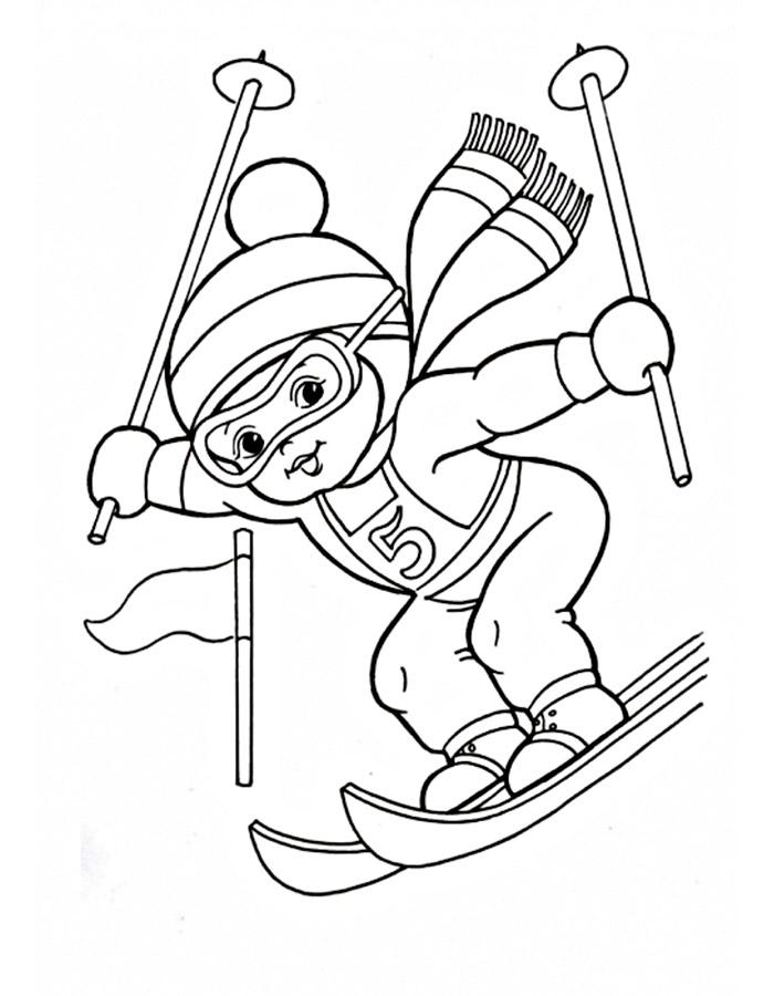 Раскраски спорт для дошкольников