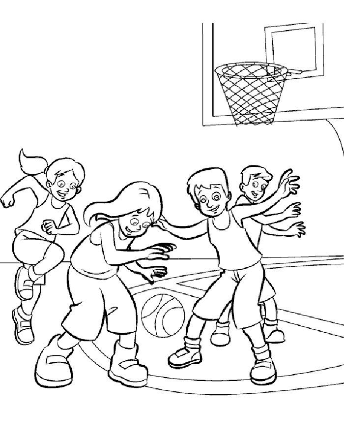 Раскраски спорт здоровье