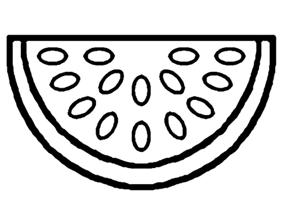Раскраска арбуз скачать и распечатать