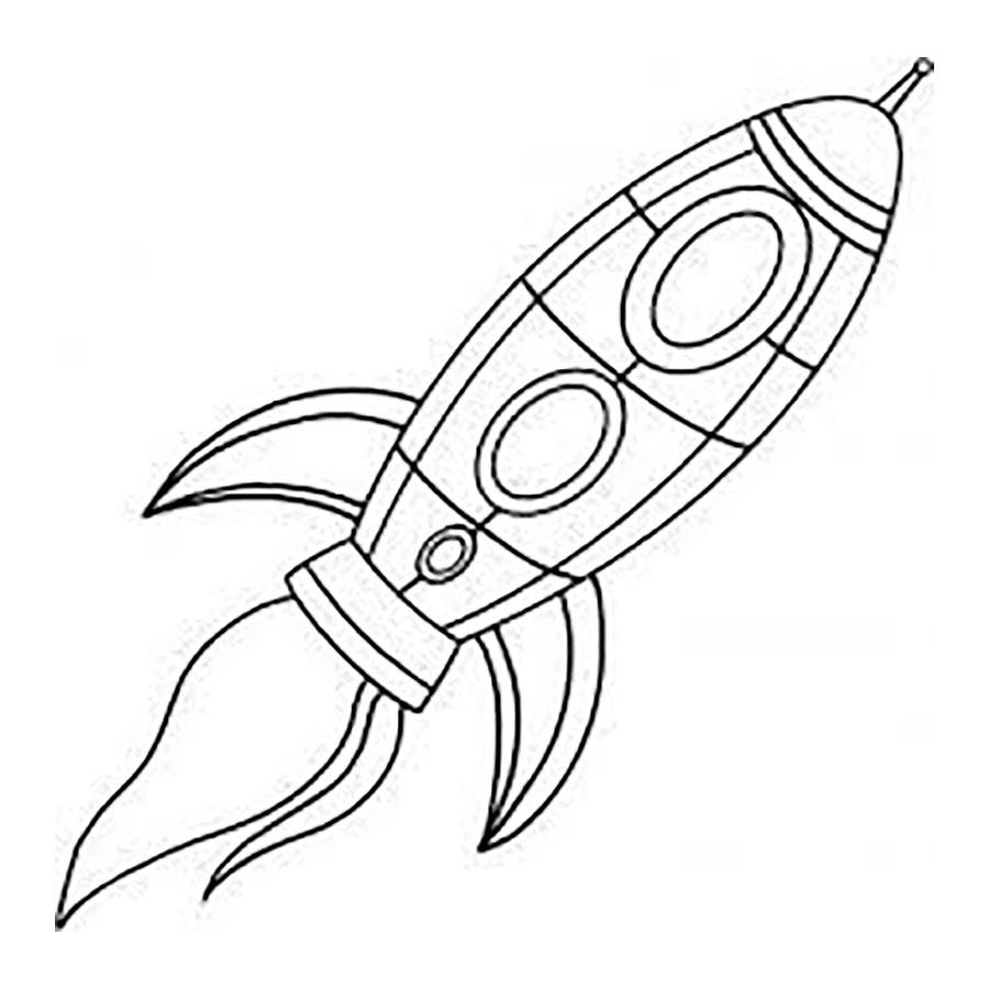 Класс, картинки ракеты для срисовки