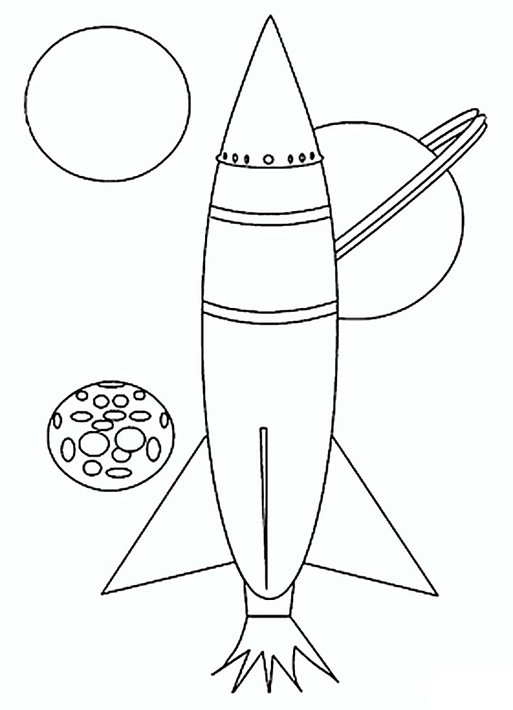 space rocket coloring pages - 723×1000