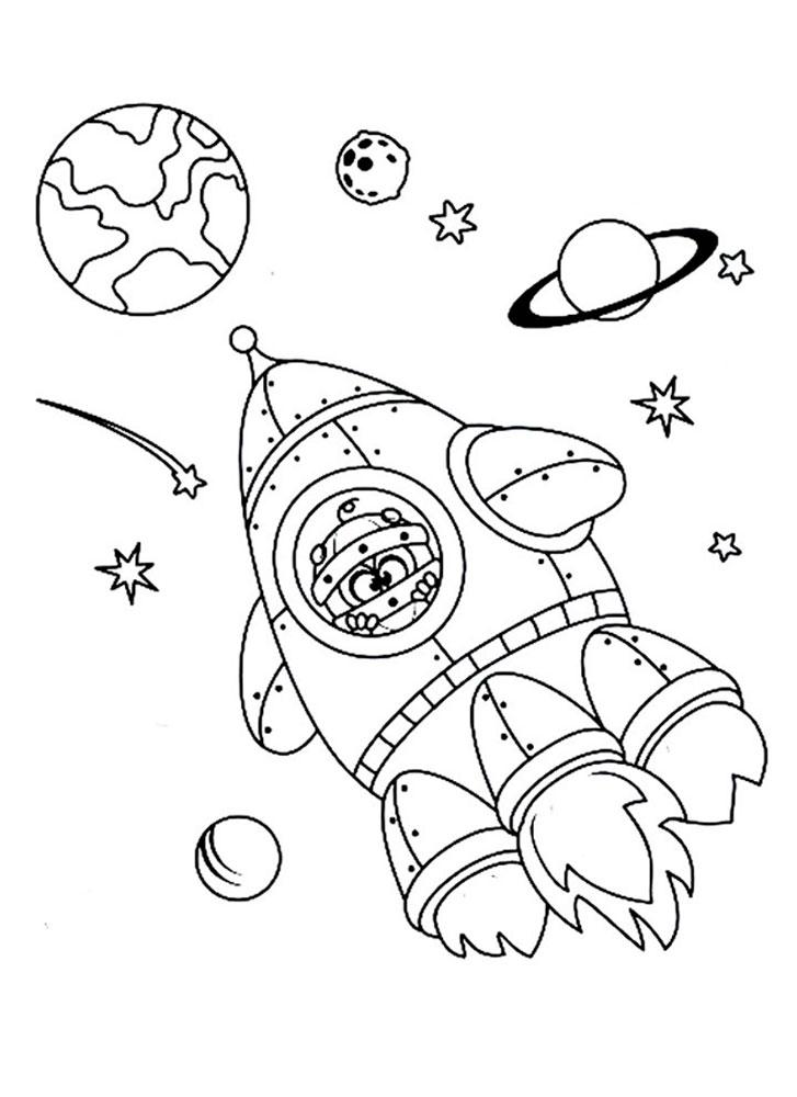 Смешарики космос раскраски