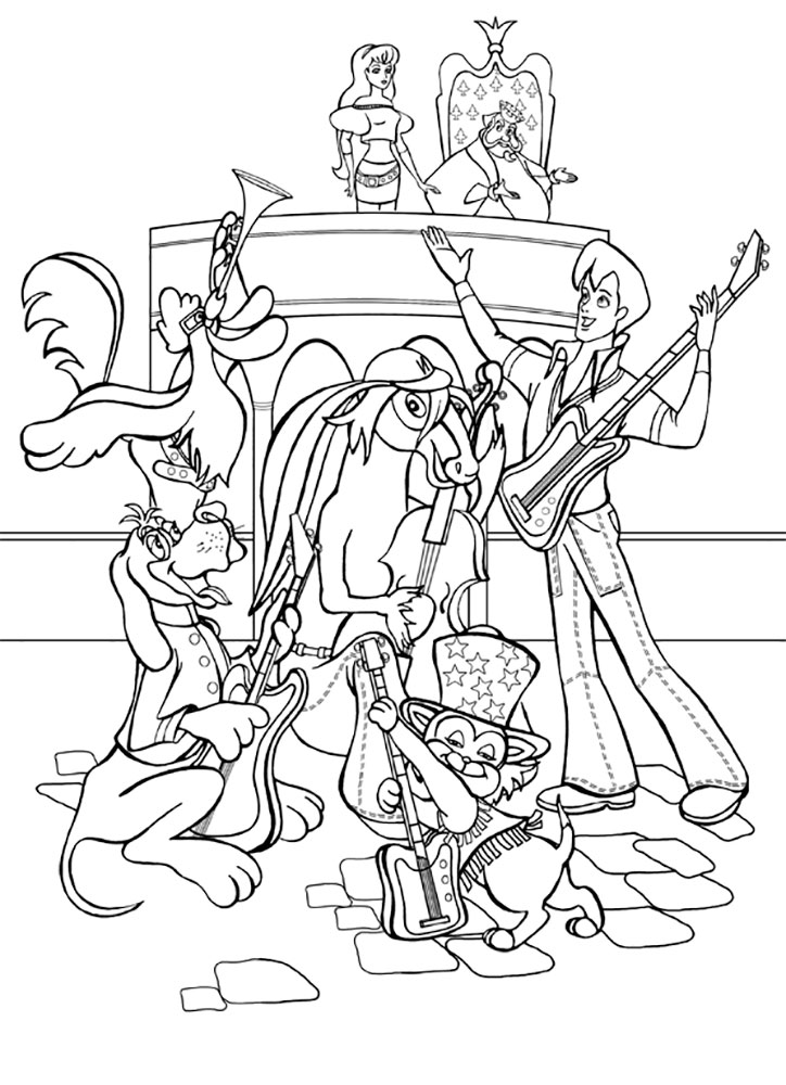 Раскраска бременские музыканты сказка за сказкой