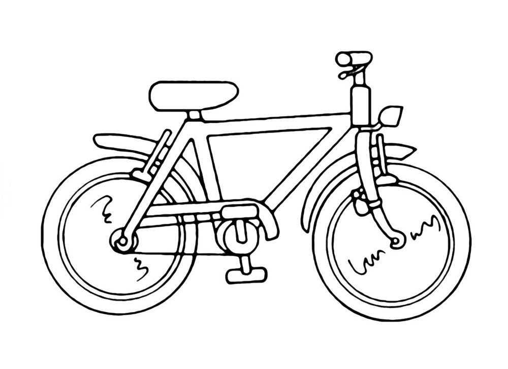 Картинки раскраски для детей велосипед