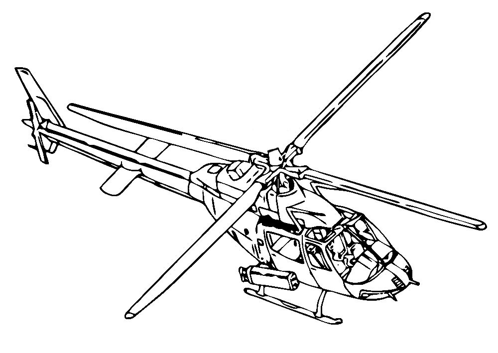 Раскраски для мальчиков вертолет распечатать