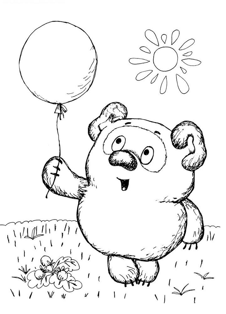 Раскраска воздушные шарики скачать и распечатать