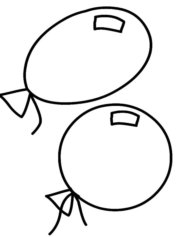 Раскраски картинки шар, день рождения своими