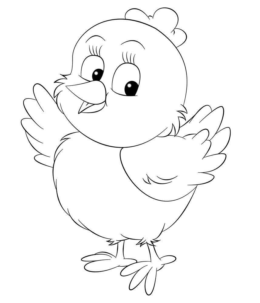 Рисунки цыпленка для раскраски