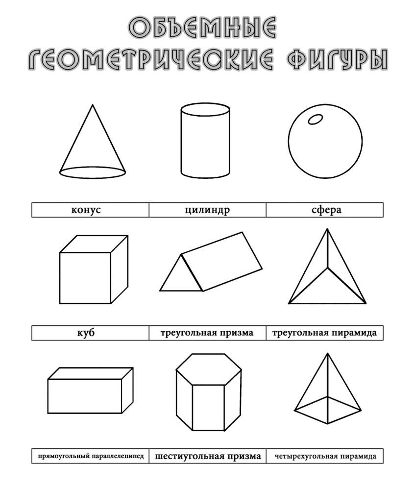 Раскраска геометрические фигуры