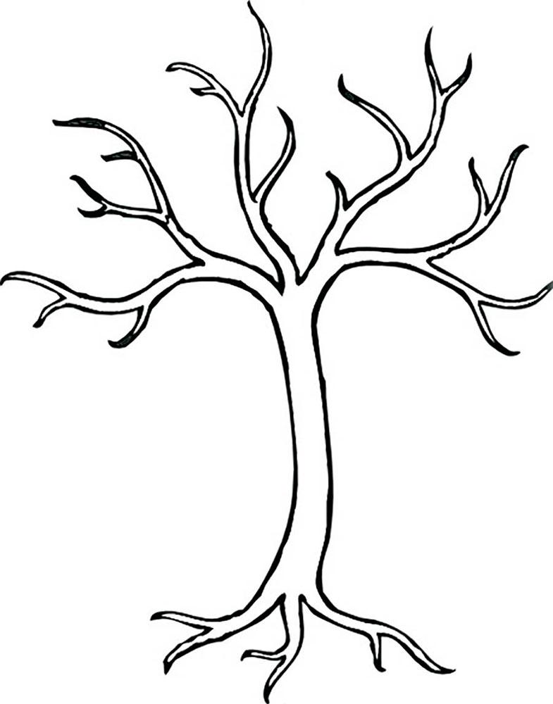 картинка дерево раскраска