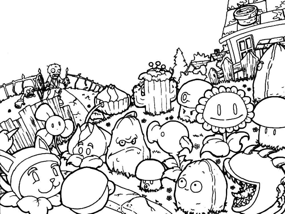 Plants Vs Zombies Garden Warfare Coloring Pages Democraciaejustica