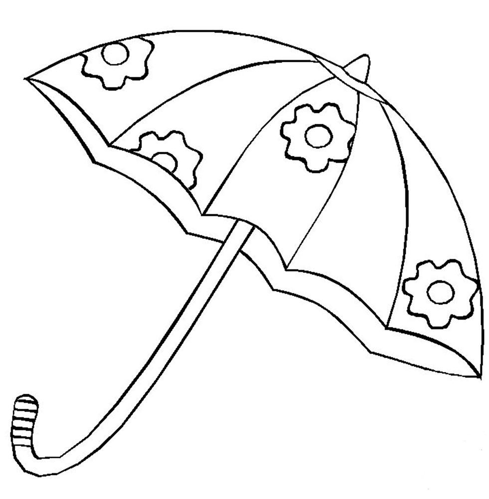 Картинки зонтиков для раскрасок
