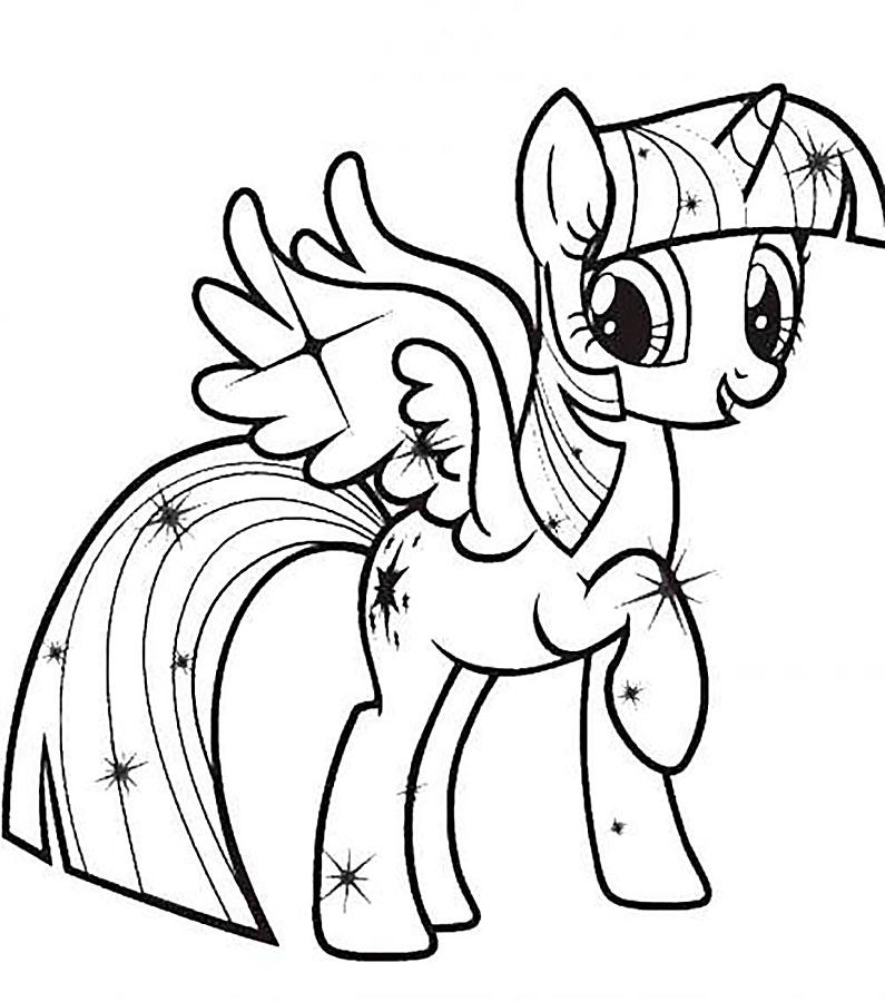 Раскраска литл пони спаркл