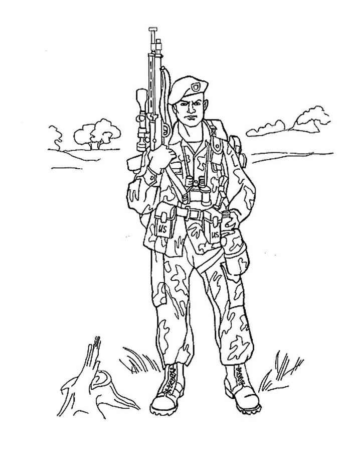 Военные люди раскраски