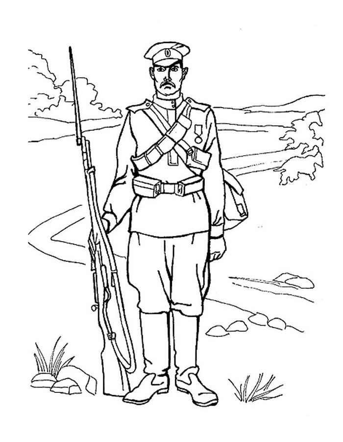 Раскраски для мальчиков солдаты - 2