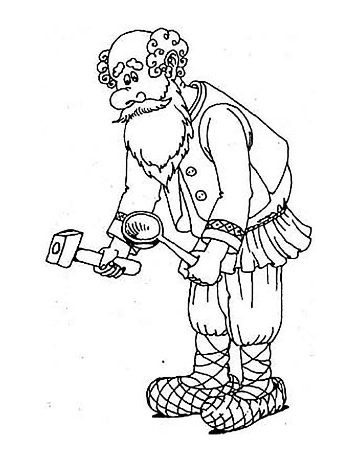 Раскраска про дедушка 110