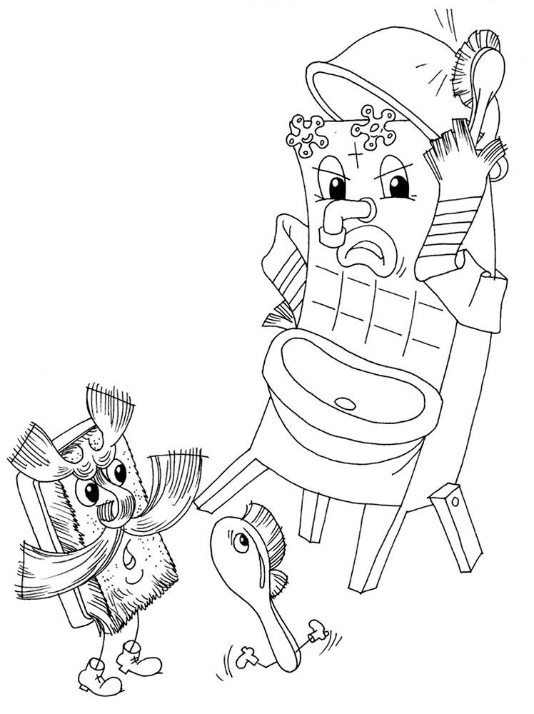 Рисунок к сказке мойдодыр карандашом