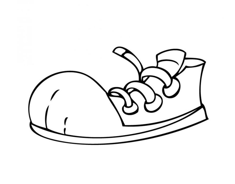 Рисунок ботинка смешной