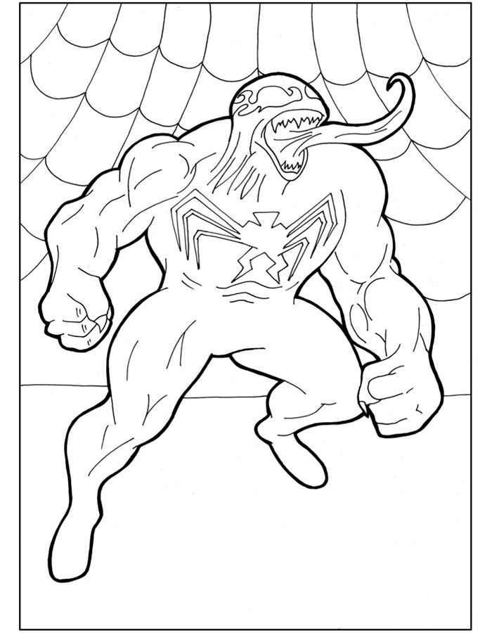 Скачать и распечатать раскраски Человек Паук