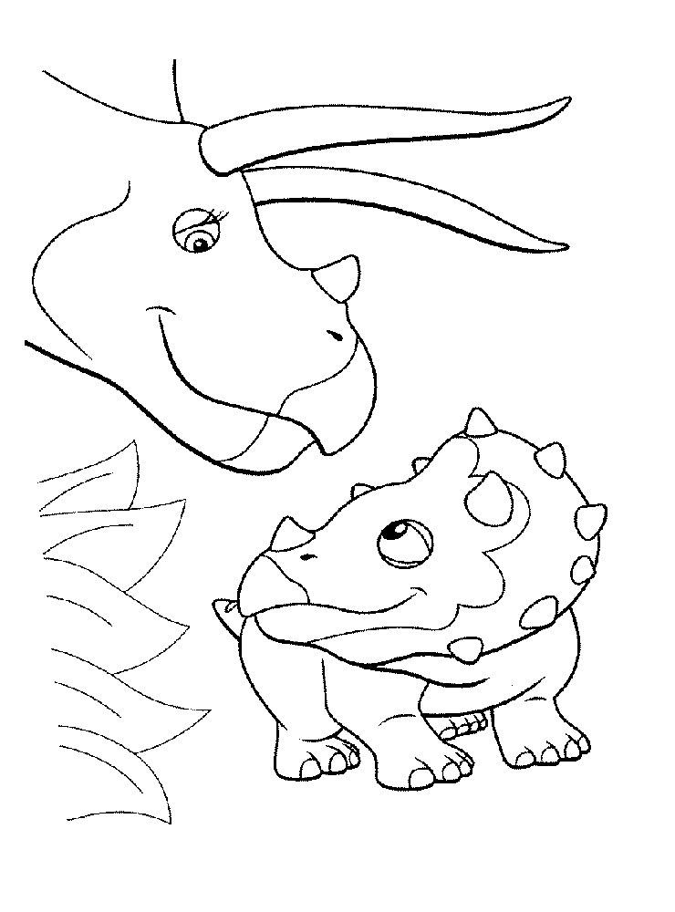 скачать раскраска динозавров