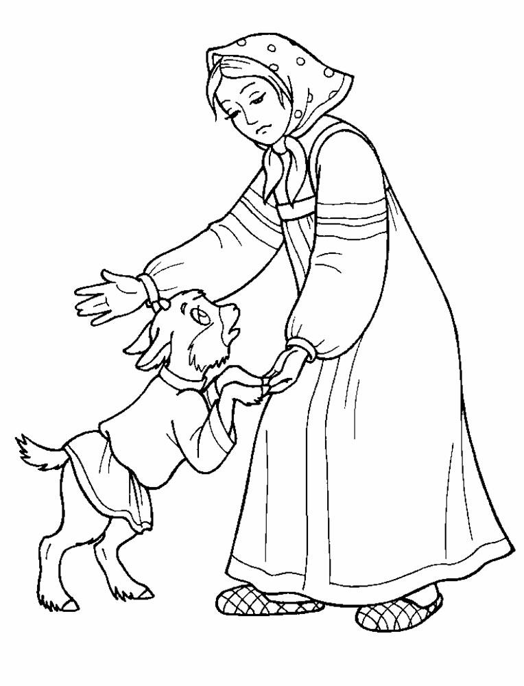 Раскраска из сказки аленушка и братец иванушка