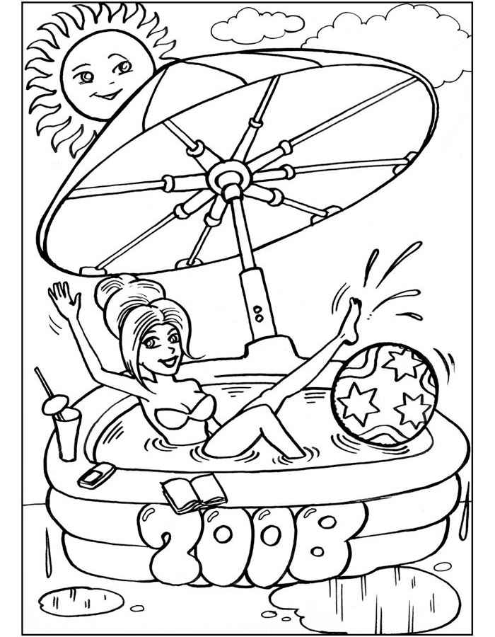 Раскраски для девочек распечатать бесплатно барби - 4