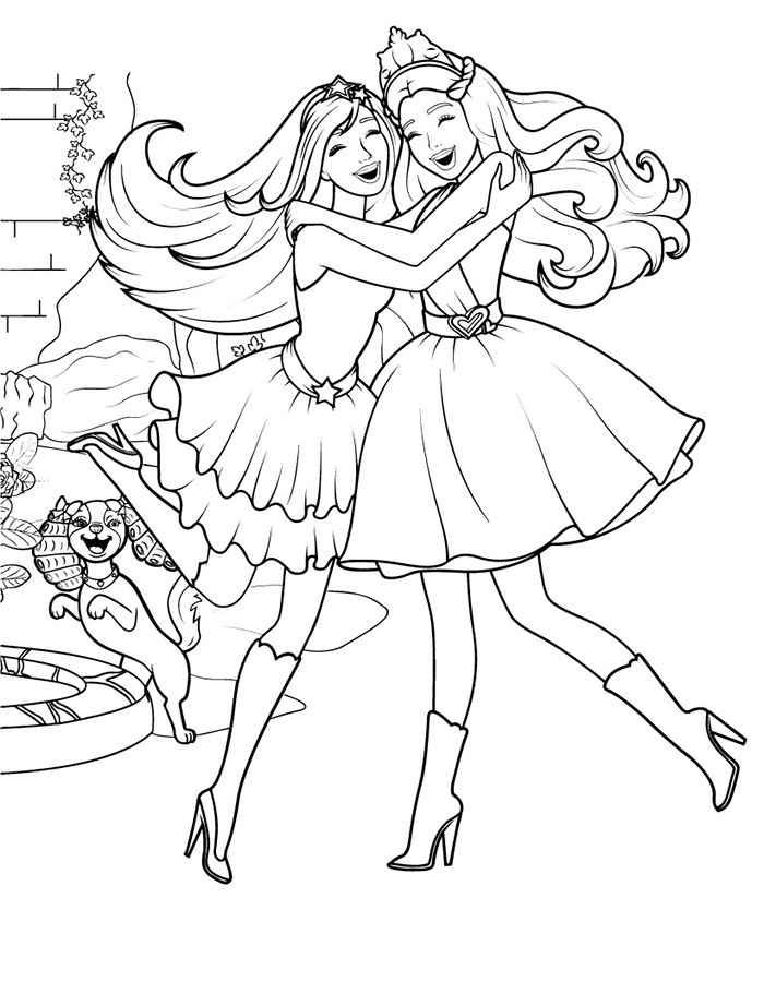 Скачать и распечатать раскраски кукла Барби