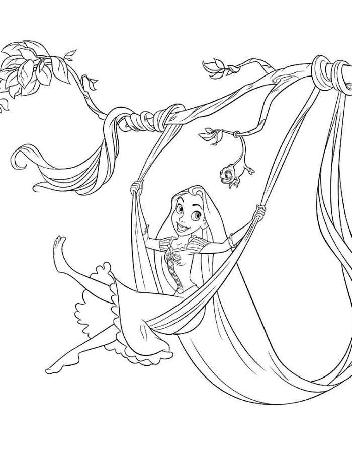 Раскраска для девочек рапунцель - 1