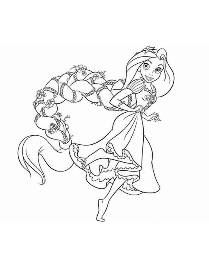 Раскраска для девочек принцессы - 3