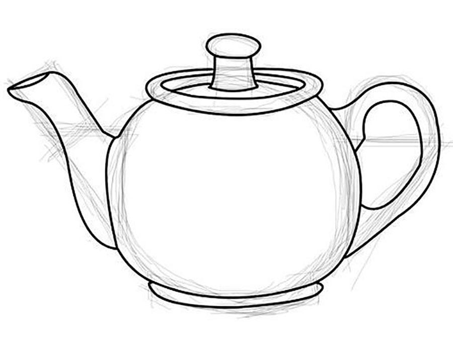 105Как нарисовать посуду карандашом поэтапно для детей