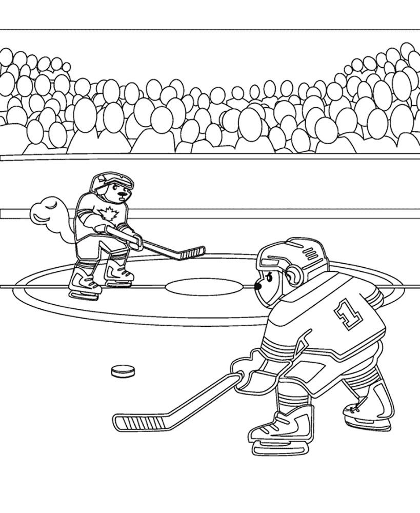Картинка как дети играют в хоккей