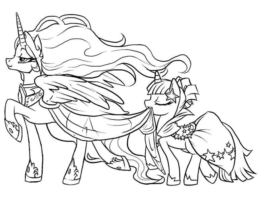 Раскраски пони бесплатно раскрашивать