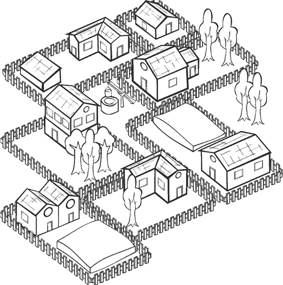 Как рисуют дома для карт