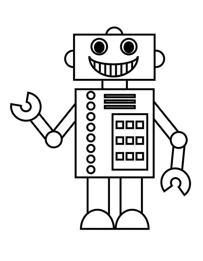 скачать и распечатать раскраски роботы