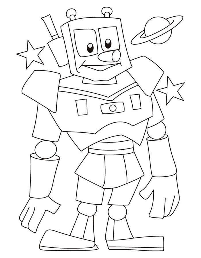 Раскраски для мальчиков роботы онлайн бесплатно - 8
