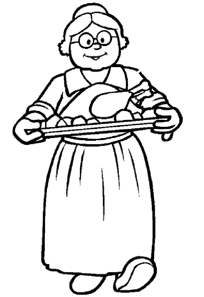 Картинка бабушки для срисовки
