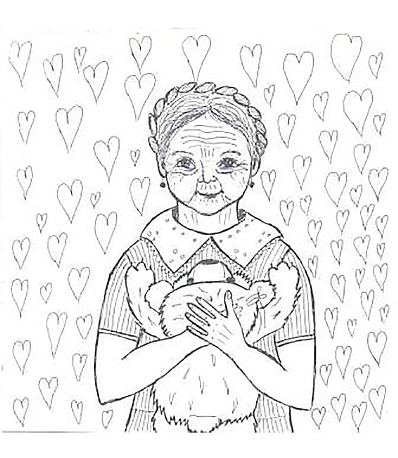 Как нарисовать красивую картинку для бабушки