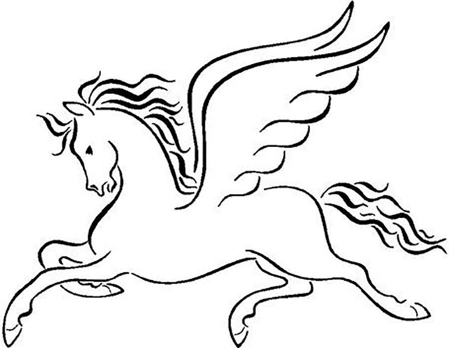 картинка пегаса с крыльями раскраска том, каковы признаки