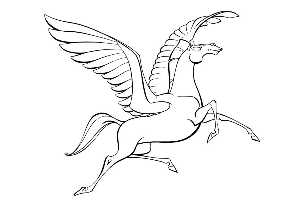 какой картинка пегаса с крыльями раскраска для фотозоны