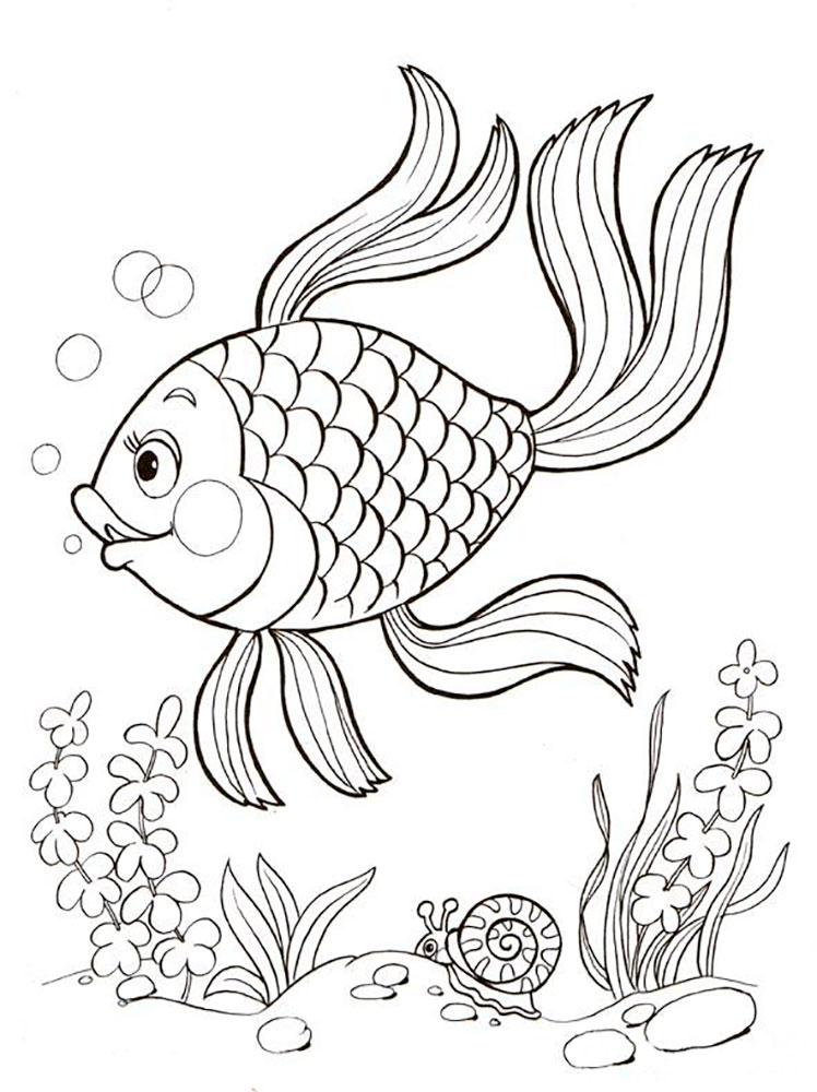 Раскраска подводный мир скачать и распечатать