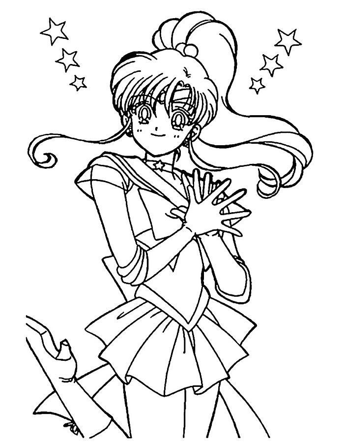 раскраска sailor moon