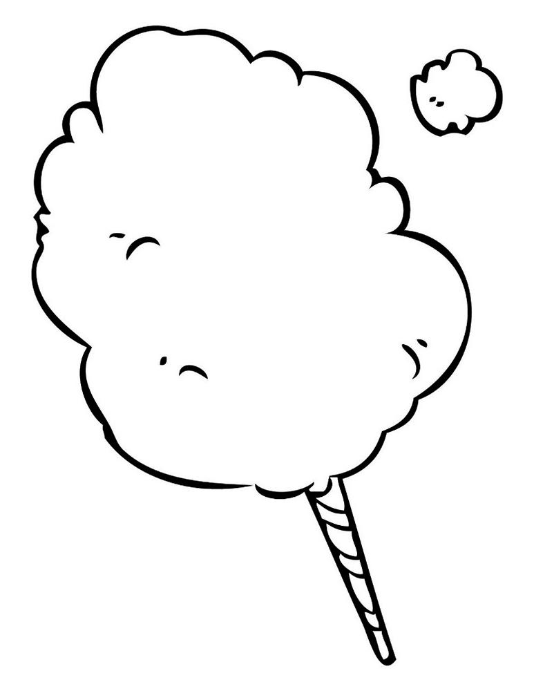 раскраска сладости скачать и распечатать