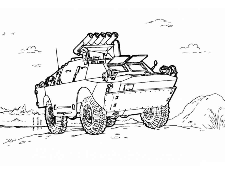 раскраски военная техника великая отечественная война