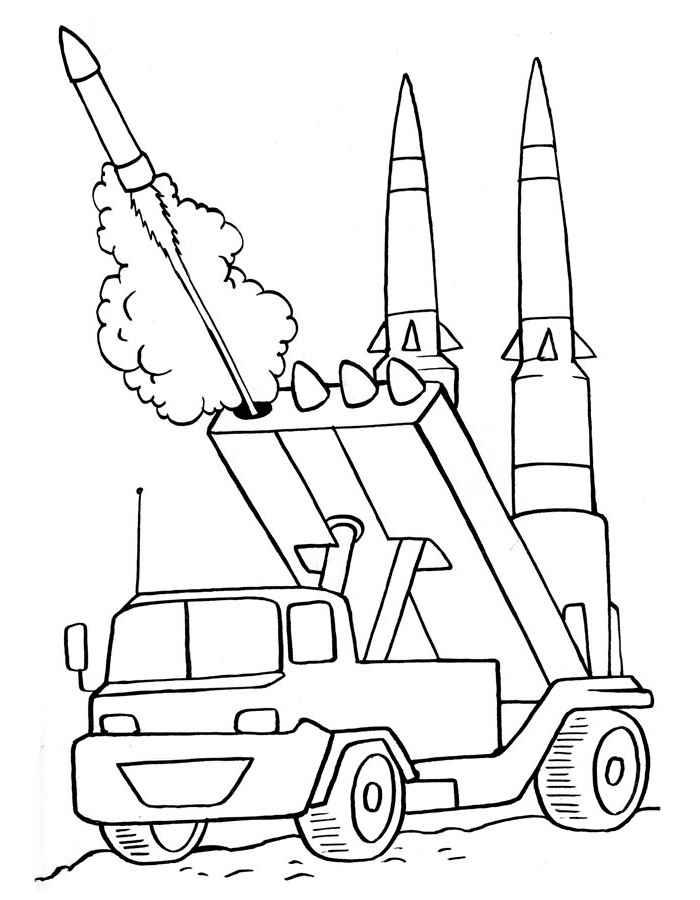 Скачать и распечатать раскраски военная техника